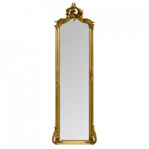 Oglinda dreptunghiulara aurie cu rama din lemn 54x172 cm Baroque Versmissen