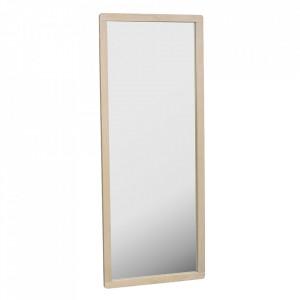 Oglinda dreptunghiulara maro deschis din lemn de stejar 60x150 cm Methro Rowico Home
