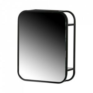 Oglinda dreptunghiulara neagra din metal 35x45 cm Olivia Woood