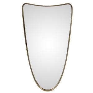 Oglinda ovala aurie din metal 31x61 cm Darwin Zago