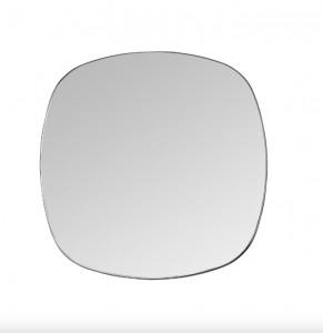 Oglinda patrata neagra din alama 50x50 cm Dobles Black Mini Versmissen