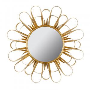 Oglinda rotunda din MDF si fier 90 cm Sun Santiago Pons