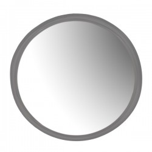 Oglinda rotunda gri din metal 85 cm Woody Grey Zago