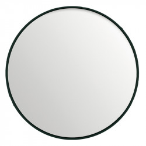 Oglinda rotunda neagra din MDF si sticla 120 cm Black Lifestyle Home Collection
