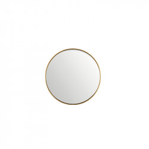 Oglinda rotunda neagra din MDF si sticla 30 cm Antique Gold Lifestyle Home Collection