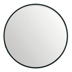 Oglinda rotunda neagra din MDF si sticla 80 cm Black Lifestyle Home Collection