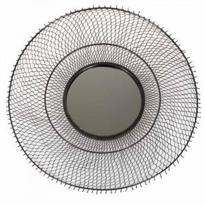 Oglinda rotunda neagra din metal 75 cm Arvi Zago