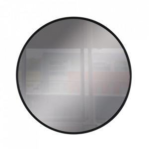 Oglinda rotunda neagra din sticla si metal 40 cm Anne Steinhauer