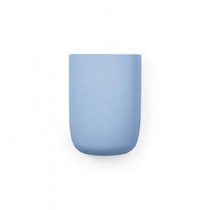 Organizator de perete albastru din plastic 10 cm Pocket Normann Copenhagen