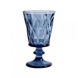 Pahar albastru din sticla pentru vin 200 ml Diamond Nordal