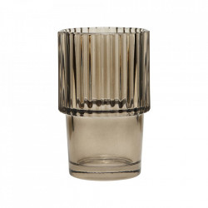 Pahar gri din sticla 7x11 cm Rills House Doctor