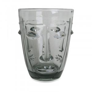 Pahar gri din sticla 8x10 cm Judit Opjet Paris