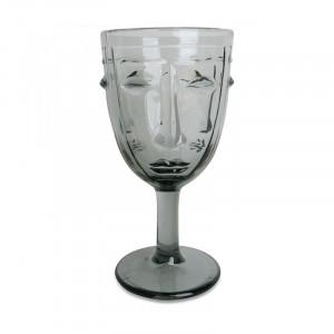 Pahar gri din sticla 8x16,5 cm Amber Opjet Paris