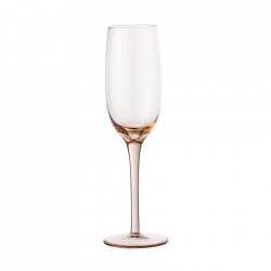 Pahar roz din sticla pentru sampanie 200 ml Liga Bloomingville