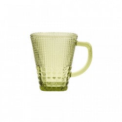 Pahar verde din sticla 270 ml Green Handle Nordal