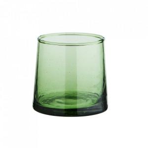 Pahar verde din sticla reciclata 7x7 cm Camille Madam Stoltz