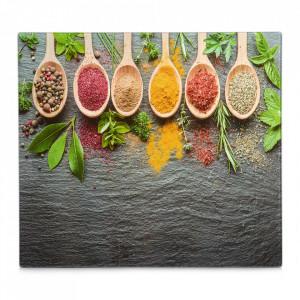 Panou antistropire multicolor din sticla pentru perete 50x56 cm Spices Zeller