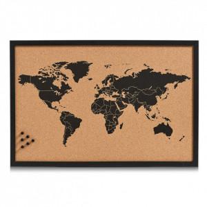Panou memo negru din pluta 40x60 cm Bennett World Zeller