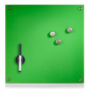Panou memo verde din sticla 40x40 cm Ferguson Glass Zeller