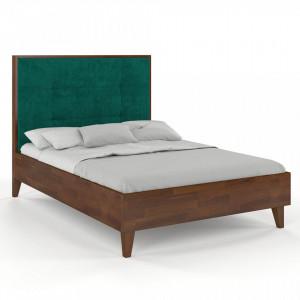 Pat maro din lemn de pin 160x200 cm Frida Nut Skandica