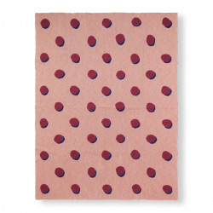 Patura roz din bumbac 120x160 cm Double Dot Ferm Living