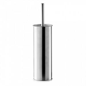 Perie toaleta argintie din inox Classic Design Zeller