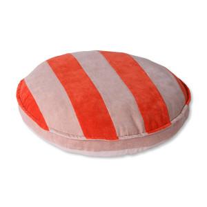 Perna de podea rotunda rosie/roz din catifea 60 cm Ilaria HK Living