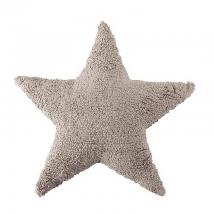 Perna decorativa bej din bumbac pentru copii 54x54 cm Star Linen Lorena Canals