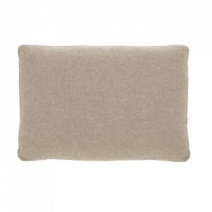 Perna decorativa dreptunghiulara bej din textil 50x70 cm Block La Forma