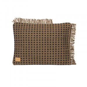 Perna decorativa dreptunghiulara maro din poliester 50x70 cm Way Ferm Living