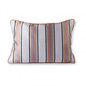 Perna decorativa dreptunghiulara multicolora din poliester si bumbac 35x50 cm Stripe HK Living