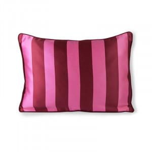Perna decorativa dreptunghiulara roz/mov din poliester si bumbac 35x50 cm Stripe HK Living