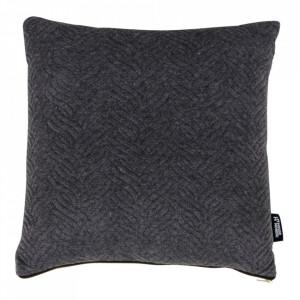 Perna decorativa gri inchis din bumbac si poliester 45x45 cm Ferrel House Nordic