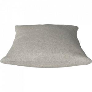 Perna decorativa patrata bej nisipiu din lana 60x60 cm Classic Qual Bolia