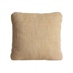 Perna decorativa patrata galben mustar din textil 43x43 cm Diamond Woud