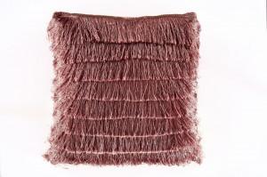 Perna decorativa patrata roz din catifea 40x40 cm Lenny Invicta Interior