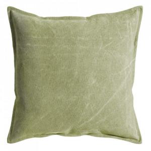 Perna decorativa patrata verde din bumbac 60x60 cm Ives Ixia