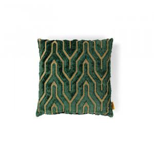Perna decorativa patrata verde din textil 45x45 cm I Feel So Soft Bold Monkey