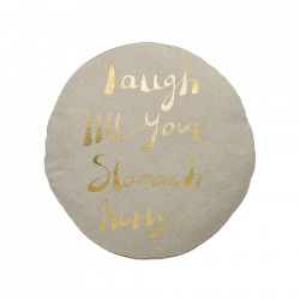 Perna rotunda maro din bumbac pentru sezut 70 cm Hugs Bloomingville