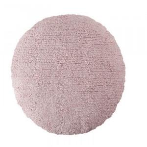 Perna rotunda roz din bumbac pentru podea 50 cm Big Dot Pink Lorena Canals