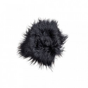 Perna sezut neagra din blana de oaie 70x70 cm Sheepskin Versmissen