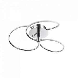 Plafoniera argintie din metal cu LED Klee Line Maytoni