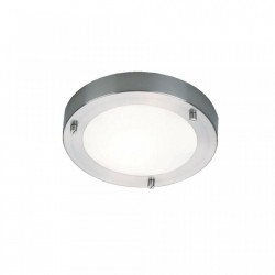 Plafoniera argintie din metal si sticla Ancona Brushed LED Nordlux