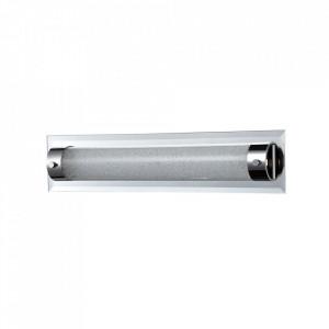 Plafoniera argintie din metal si sticla cu LED Modern Plasma Maytoni