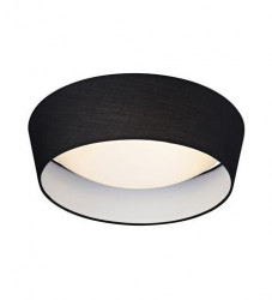 Plafoniera dimabila neagra/alba din textil si plastic cu LED Vito Markslojd
