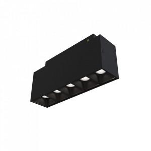 Plafoniera neagra din aluminiu cu LED Points S Maytoni