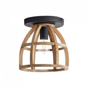 Plafoniera neagra/maro din metal si lemn Matrix Brilliant