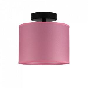 Plafoniera roz/neagra din hartie si otel Taiko Sotto Luce