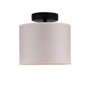 Plafoniera roz pal/neagra din hartie si otel Taiko Sotto Luce