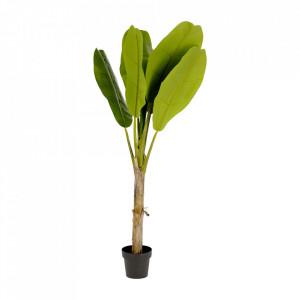 Planta artificiala cu ghiveci din polietilena si ciment 160 cm Banana Kave Home